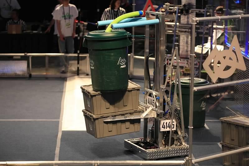 "Our 2015 Season Recycle Rush Robot ""BumbleBot"""
